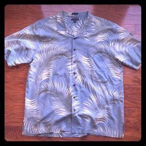 Weekender silk blend,short sleeve,button down.XXL